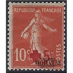 1914 Frankreich Mi# 125a  * Falz Guter Zustand. Rotes Kreuz (Michel)  Rotes Kreuz