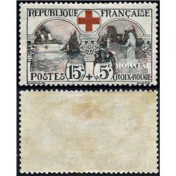 1918 Frankreich Mi# 136  * Falz Guter Zustand. Rotes Kreuz (Michel)  Rotes Kreuz