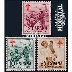 1951 Spanien Zwangszuschlagsmarken55/57 Pro-Tuberkulose Wohltätigkeit * Falz Guter Zustand  (Michel)