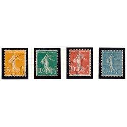 1921 France  Sc# 160, 163, 171, 144  * MH Nice. Sower (Scott)