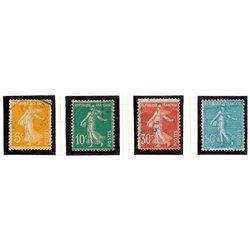 1921 France  Sc# 160, 163, 171, 144  (o) Used, Nice. Sower (Scott)