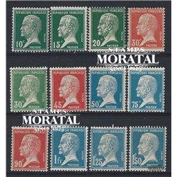 1923 France  Sc# 185/196  ** MNH Very Nice. Louis Pasteur (Scott)  Medecine