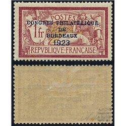 1923 France  Sc# 197  * MH Nice. Philatelic Congress Boudeaux (Scott)  Philately