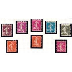 1924 France  Sc# 165, 167, 172/173, 177/178, 181, 183  * MH Nice. Sower Ground (Scott)
