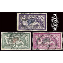 1924 France  Sc# 128, 131/132  (o) Used, Nice. Merson (Scott)  Generic Series