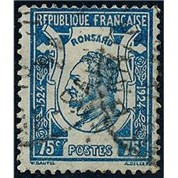 1925 France  Sc# 219  (o) Used, Nice. Pierre de Ronsard (Scott)  Personalities