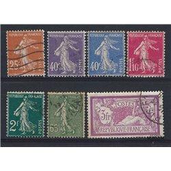 1927 France  Sc# 115, 150, 169, 179/180, 182,184, 129  (o) Used, Nice. Blanc, Semeuse & Merson (Scott)  Generic Series