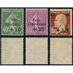 1929 Frankreich Mi# 244/246  ** Perfekter Zustand. Staatsschuldentilgungskasse (Michel)