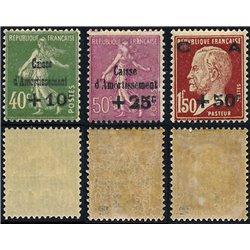 1929 Frankreich Mi# 244/246  * Falz Guter Zustand. Staatsschuldentilgungskasse (Michel)