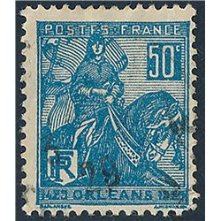 1929 France  Sc# 245  (o) Used, Nice. Joan of Arc (Scott)  Personalities