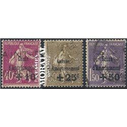 1930 France  Sc# B35/B37  (o) Used, Nice. Sinking Fund Issues (Scott)