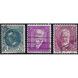 1933 Frankreich Mi# 287/289  (o) Gebrauchte, Zustand. Persönlichkeíten (Michel)  Persönlichkeiten