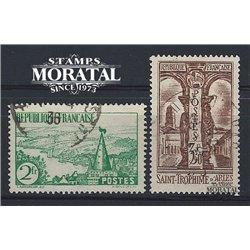 1935 Frankreich Mi# 296, 298  (o) Gebrauchte, Zustand. Sehenswürdigkeiten (Michel)  Tourismus