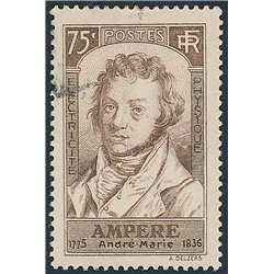 1936 France  Sc# 306  (o) Used, Nice. André-M. Ampère (Scott)  Personalities