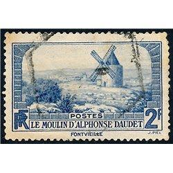 1936 France  Sc# 307  (o) Used, Nice. Lettres de Mon Moulin (Scott)  Tourism