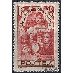 1936 France  Sc# B46  * MH Nice. Children Unemployed (Scott)
