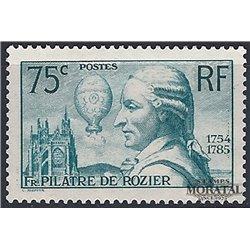 1936 Frankreich Mi# 318  ** Perfekter Zustand. François Pilâtre de Rozier (Michel)  Persönlichkeiten