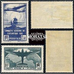 1936 France  Sc# 16/C17  ** MNH Very Nice. Flight across Atlantic (Scott)