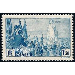 1936 Frankreich Mi# 334  ** Perfekter Zustand. Internationale Friedensverelnigung (Michel)