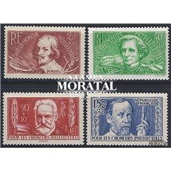 1936 France  Sc# B42/B43  * MH Nice. Exiled Intellectuals (Scott)