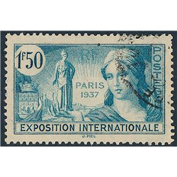 1937 France  Sc# 315/320  (o) Used, Nice. 1937 Paris Exposition (Scott)  Exposition