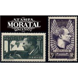 1937 France  Sc# 325/326  ** MNH Very Nice. Jean Mermoz (Scott)  Personalities