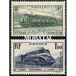 1937 France  Sc# 327/328  ** MNH Very Nice. Railroad Congress (Scott)  Railway