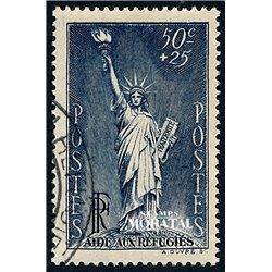 1937 France  Sc# B44  (o) Used, Nice. Political Refugees (Scott)