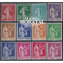 1937 Frankreich Mi# 363/369, 390, 392/393, 396, 398, 400/405  * Falz Guter Zustand. Säerin (Michel)