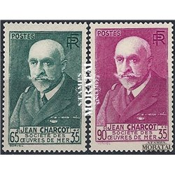 1938 France  Sc# B68/B69  * MH Nice. Jean Baptiste Charcot (Scott)  Personalities