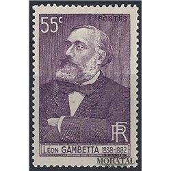1938 France  Sc# 341  * MH Nice. Léon Gambetta (Scott)