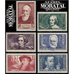 1938 France  Sc# B42/B43  ** MNH Very Nice. Exiled Intellectuals (Scott)
