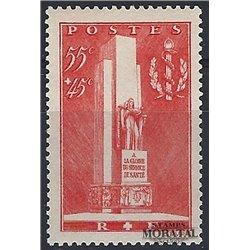 1938 Frankreich Mi# 426  ** Perfekter Zustand. Denkmal fOr den Sanltatsdienst (Michel)  Tourismus