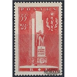 1938 France  Sc# B73  * MH Nice. Monument Army Medical (Scott)  Tourism