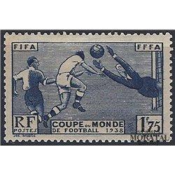 1938 France  Sc# 349  * MH Nice. World Cup Soccer (Scott)  Sport