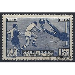 1938 France  Sc# 349  (o) Used, Nice. World Cup Soccer (Scott)  Sport