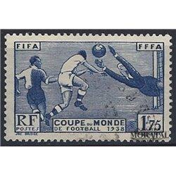 1938 Frankreich Mi# 427  (o) Gebrauchte, Zustand. FuBballweltmelsterschaft (Michel)  Sport