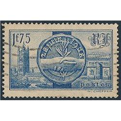 1938 France  Sc# 352  (o) Used, Nice. Visite Queen Elizabeth (Scott)