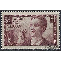 1938 France  Sc# B79  * MH Nice. Radios for the Blind (Scott)