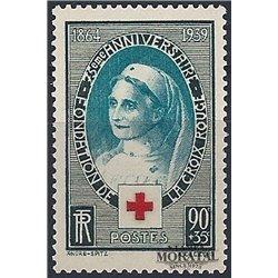 1938 Frankreich Mi# 136  * Falz Guter Zustand. Rotes Kreuz (Michel)  Rotes Kreuz