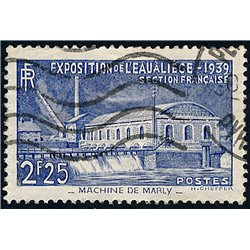 1938 France  Sc# 388  (o) Used, Nice. Pumping Station Marly (Scott)  Exposition