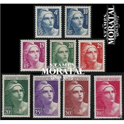 1945 France  Sc# 548/556  * MH Nice. Marianne (Scott)  Generic Series
