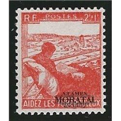 1945 France  Sc# B193  (*) MNG Nice. Aid Tuberculosis Victims (Scott)  Medecine