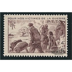 1945 France  Sc# B192  * MH Nice. Victims of The War. (Scott)