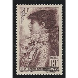 1945 France  Sc# B191  * MH Nice. Sarah Bernhardt (Scott)  Personalities