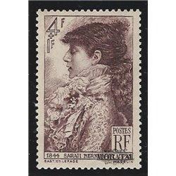 1945 Frankreich Mi# 729  * Falz Guter Zustand. Sarah Bernhardt (Michel)  Persönlichkeiten
