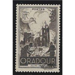 1945 France  Sc# B195  * MH Nice. Oradour sur Glane (Scott)