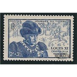 1945 Frankreich Mi# 735  * Falz Guter Zustand. Tag der Briefmarke (Michel)