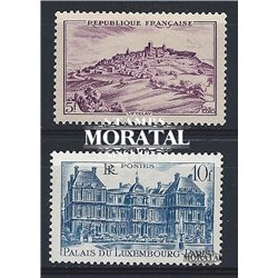 1946 France  Sc# 568/569  ** MNH Very Nice. Sites and Monuments (Scott)  Tourism