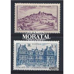 1946 Frankreich Mi# 756/758  * Falz Guter Zustand. Stätten und Denkmäler (Michel)  Tourismus